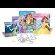 Disney hercegnők fémdoboz (benne: 2 foglalkoztató, 1 színező, 4 filctoll, matricák és egy poszter) (Disney)