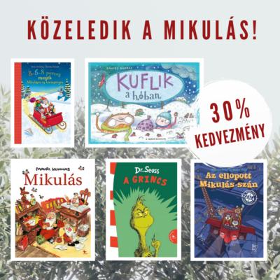 Közeledik a Mikulás! - válogatás ünnepi gyerekkönyvek 30% kedvezménnyel