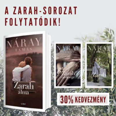 Náray Zarah kötetek új kötettel együtt 30% kedvezménnyel